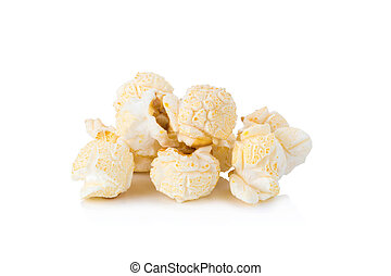 Popcorn isolated on white background