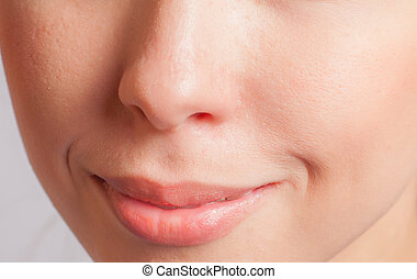lips, part of face