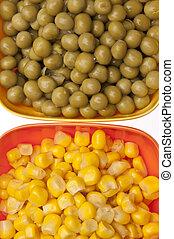 macro, maïs, pois, vibrant