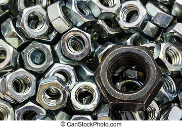 Macro metal nuts with a difference.
