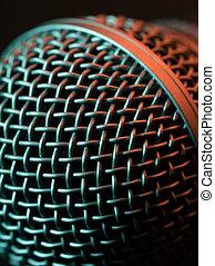 macro, microfone, vocal