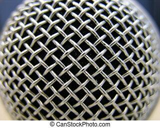 macro, microphone