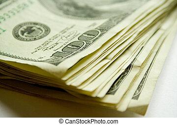 macro money. pile of dollars