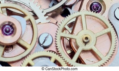 macro, montre, engrenage