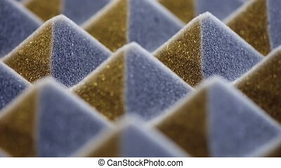 Macro of acoustic foam panel background, sliding video, very...