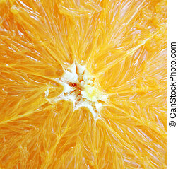 macro of an orange for backgrounds