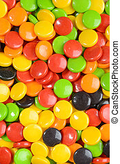 macro of Assorted hard candy background