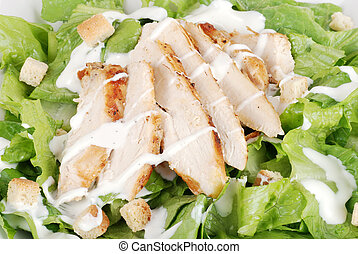 Macro of chicken cesar salad