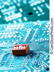 Macro of computer board, technology background