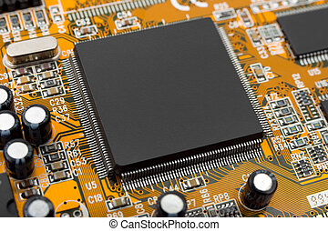 Macro of computer chip