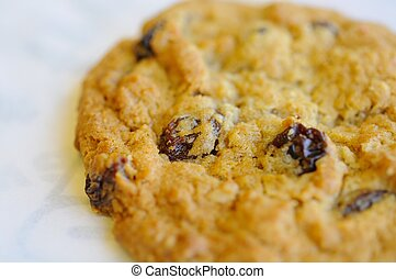 Macro of delicious cookie
