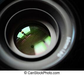 Macro of DSLR lens
