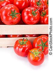 Macro of fresh tomatoes (Solanum lycopersicum)