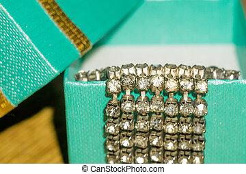 Macro of Green Giftbox