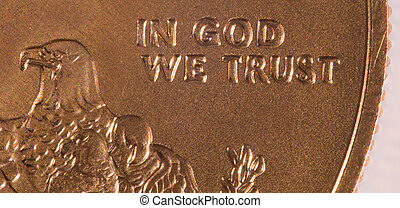 Macro of In God we Trust