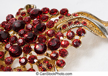 Jewelry - Macro of Jewelry made of Red Crystals