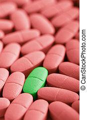 macro of prescription pills