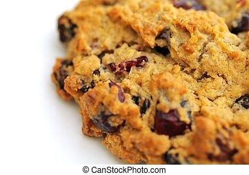 Macro of raspberry cookie