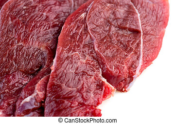 Macro of raw red meat