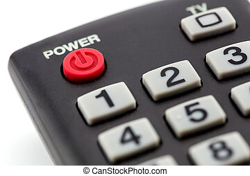 macro of remote control detail