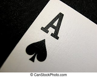 macro of the ace of spades