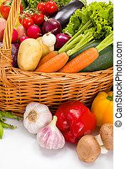 Macro of various vegetables