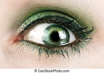 macro, olhos