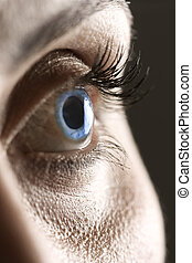 Macro on blue eye