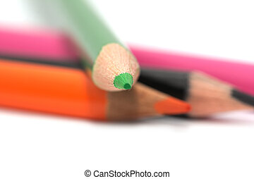 macro, pencils., gekleurde