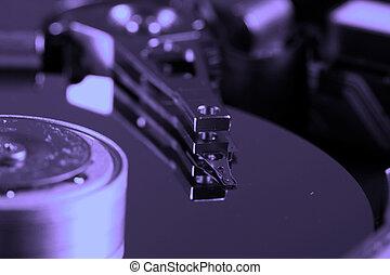 Hard Disk Drive - Macro photo - Hard Disk Drive.