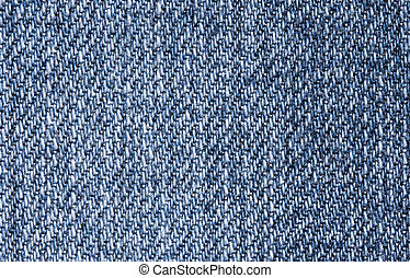 Macro photo of blue jeans texture