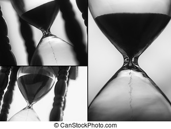 Macro photo of sand hourglass