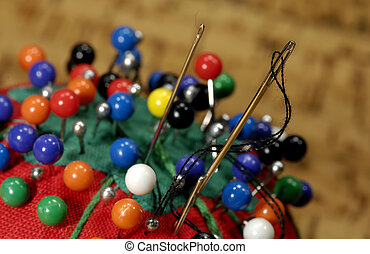 Sewing Needles - Macro Photo of Sewing Needles