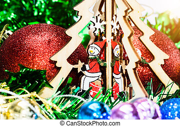 Macro photo of the Christmas tree.