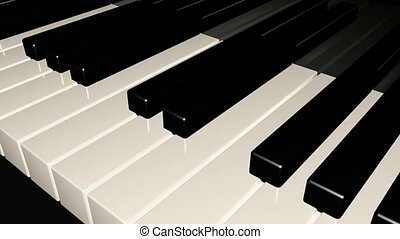 macro, piano, loopable, fond, clavier