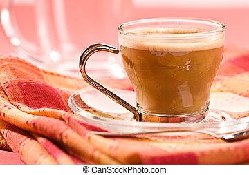 cappuccino - macro picture, cup of coffe, cappuccino