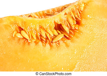 Macro picture of melon