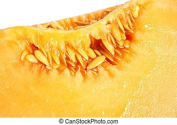 Macro picture of melon