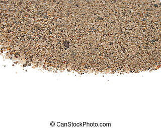 Macro pile sand isolated on white