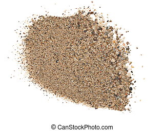 macro pile sand isolated