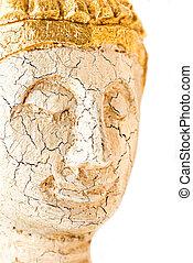 Macro portraite of Buddha`s face - Macro portrait of...