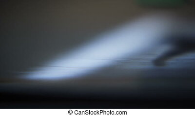 Macro Record Grooves - Macro close up on the grooves of a...