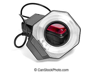 macro ring light flash