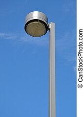 Macro road lamp with blue sky