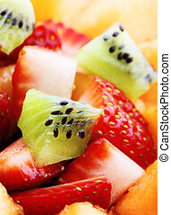 macro, salada fruta