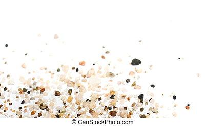 macro sand isolated on white