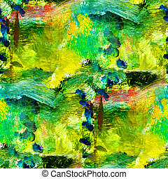 macro seamless texture africa green oil painting on canvas with brush strokes