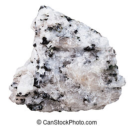 specimen of Diorite mineral stone isolated - macro shooting ...