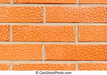 macro shot of a brick wall for background