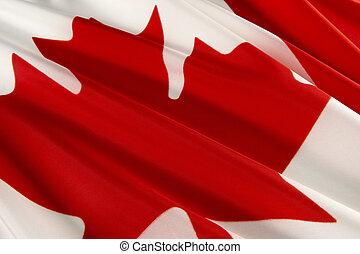 Macro shot of Canadian flag
